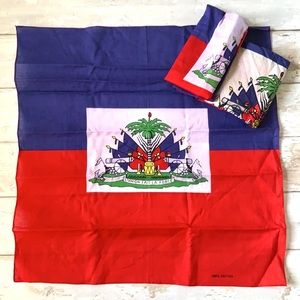 Haitian Haiti Flag Bandana 100% Cotton Set of 3